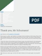 Thank You, Mr Schumann! - Diyparadise