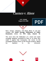 Rule 119 Section 15 - Cuenco vs. Risos