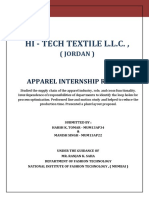 Apparel Internship Report