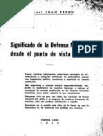 Significado de la Defensa Nacional desde el punto de vista militar - Perón, Juan Domingo