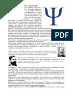 Origen y Evolución de La Psicología