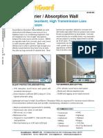 Sound Barrier Absorber Wall Data Brochure