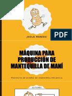 Presentación - Máquina Para Producción de Mantequilla de Maní