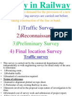 Survey in Railway