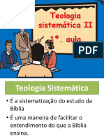 Teologia Sistemática II - Cristologia - 1a. Aula