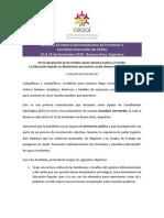 Primera Comunicación del ECE. Encuentro - Asamblea Intermedia CEAAL 2018