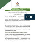 Segunda Comunicación del ECE. Encuentro - Asamblea Intermedia CEAAL 2018