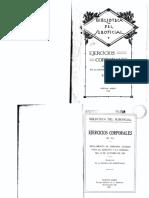 Ejercicios Corporales. Reglamento de gimansia alemán para el ejérctito y la armada del 27 de Octubre de 1920 - R.G.