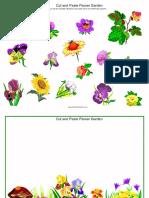 Cut and Paste Flower Garden