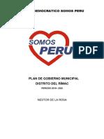 Plan de Gobierno de Somos Perú-Rimac