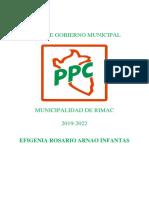 Plan de Gobierno de PPC-rímac
