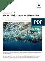 Mar de Plástico Ameaça a Vida Marinha