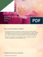 Gestión de Residuos Solidos en el Perú.pptx