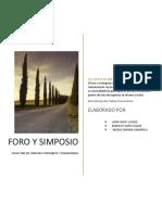 Monografia Foro Simposio