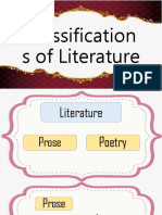 Classifications of Literature