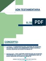 SUCESIÓN TESTAMENTARIA en el Derecho Romano