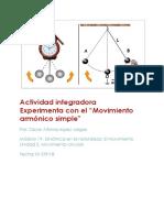"""Actividad integradora Experimenta con el """"Movimiento armónico simple"""""""