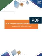 Fases 4 y 5 -Plantilla Manual de Procedimientos