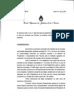 Acordada de la Corte Suprema sobre elección de autoridades