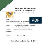 informe de laboratorio de fisica 2   densidad