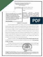 Orden de citación de Norma Burgos vs Nicolós Gautier y otros