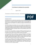 Relevamiento Integral Del Mercado de Alquileres - Agosto 2918