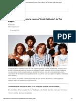 De Qué Trata Realmente La Canción _Hotel California_ de the Eagles - BBC News Mundo