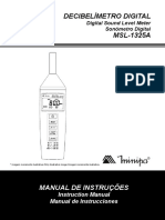 Decibelimetro Digital MSL 1325A Manual