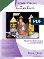 Spooktacular Decor Spooky Town Castle by Michelle Jackson-Mogford