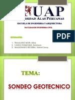 sondeo geotecnico en un terreno