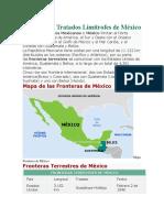 Fronteras y Tratados Limítrofes de México