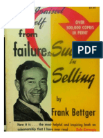 How i Raised From Faulire to Success in Selling Frank Bettger Notes