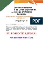 Anhanguera Prointer Final Gestão Comercial 3 e 4 Semestre