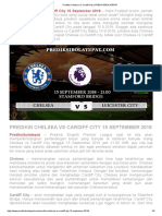 Prediksi Chelsea vs Cardiff City 15 September 2018