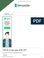 CID 10 Grupo Entre D60 e D64 - Pesquisa CID