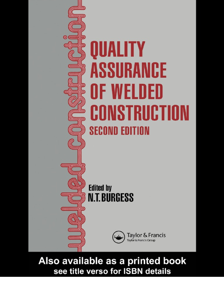 Quality assurance of welded construction quality assurance audit fandeluxe Images