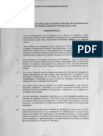 Acuerdo de austeridad de la Jucopo para 2018