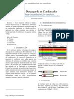 Informe - Carga y Descarga Condensador