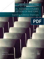 (Rhetoric, Politics and Society) Jens E. Kjeldsen (Eds.)- Rhetorical Audience Studies and Reception of Rhetoric_ Exploring Audiences Empirically-Palgrave Macmillan (2018)