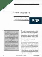Dewey1986 - VHDL Motivations