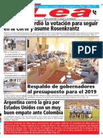 Periódico Lea Miércoles 12 de Septiembre Del 2018