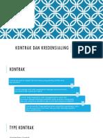 Kontrak Dan Kredensialing dalam strategic purchasing