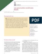 Caso clinico pancreatitis recidivante paciente joven