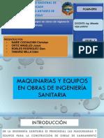 Trabajo de Maquinas y Equipos en Las Obras de Ung. Sanitaria