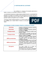Capitulo 18.Metabolismo Del Glucógeno y Capitulo 19. Gluconeogenesis y Control de La Glucosa en Sangre