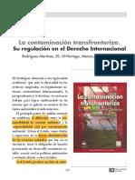 La contaminación transfronteriza