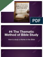Bible Study Methods #4