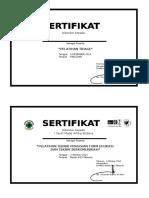 Sertifikat Pelatihan PPK 2-10-14