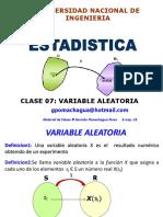 Clase 8 - Variable Aleatoria