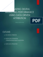 Optimizing Digital Marketing Performance Using Data Driven Attribution